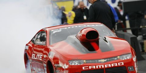 Erica Enders-Stevens is hoping to make NHRA history at Pomona, Calif., on Sunday by winning the Pro Stock championship.