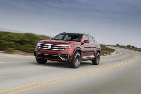 A slow and very brief drive in the VW Atlas Cross Sport concept crossover - and a look at the new ute's spec sheet -  suggests this could be a somewhat hot-rodded version of the larger Atlas, with the Atlas' 3.5-liter V6 gas engine and two electric motors stuffed in a slightly shorter, slightly stubbier SUV. Look for it in showrooms in early 2020.