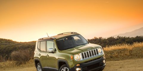 2015 Jeep Renegade Limited shown