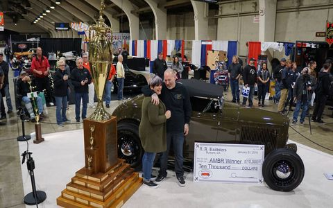 Darryl and Terri Hollenbeck's roadster won the title America's Most Beautiful Roadster after they took it on numerous cross country trips. Terri's brother Roy and father Andy have also won.