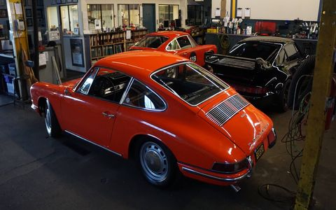 Stuttgart Automotive in West LA has been fixing Porsches, Mercedes, BMWs, Audis, Minis and at least one Noble since 1978. On Sunday they had a garage sale to try and move some of the piles of spare parts out of the loft. It worked.