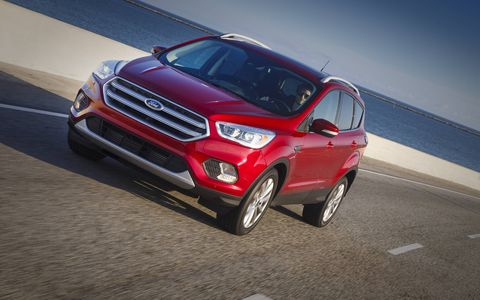 The 2017 Ford Escape has a new front and rear end, everything from the A-pillar forward and from the C-pillar back is new.