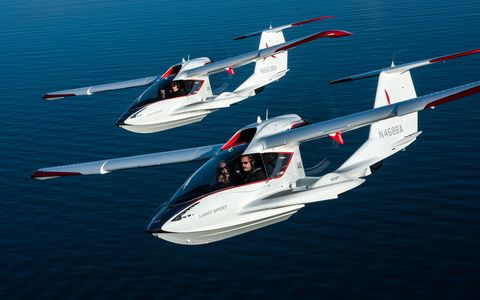 The ICON A5 is a two-seater amphibious plane that requires only a sport license to fly, which takes just 20 hours in the air to obtain. We flew the A5 and found it light and responsive. It's easy to fly and offers up tons of adventure possibilities. Price is a little steep: between about $200,000 and $250,000 or so.