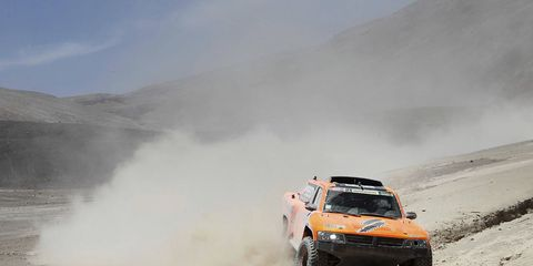 Robby Gordon finished third in the fifth stage at the Dakar Rally.
