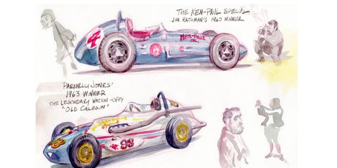 We sent illustrator Marty Davis to the 2017 Indianapolis 500. He returned with this unique look at the Greatest Spectacle in Racing.
