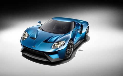 A Ford GT 600-plus hp supercar was unveiled at the Detroit Auto Show on Monday.