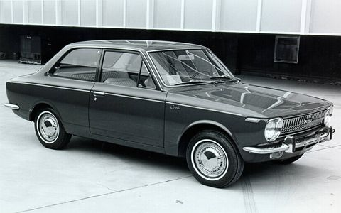 The original first-generation Corolla, offered until 1970.
