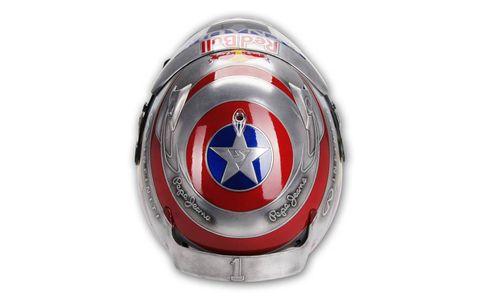 Captain America's shield.