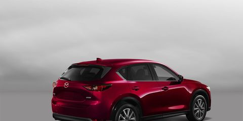 The 2018 Mazda CX-5 gets a 187-hp I4 and a six-speed automatic.