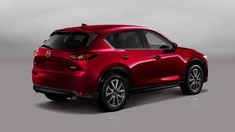 The 2018 Mazda CX-5 is only offered with a four-cylinder making 187 hp and 186 lb-ft of torque.
