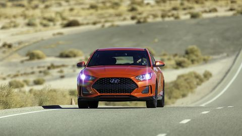 The Veloster is back with a choice of two engines, but it's the R-Spec paired with a six-speed manual that's the  most compelling performer in the lineup.