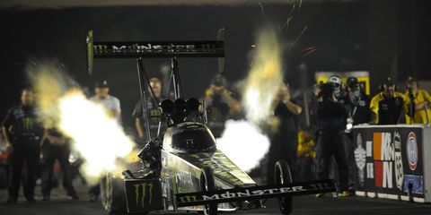 Brittany Force celebrated her 30th birthday on Friday with a fast run at Route 66 Speedway near Chicago.