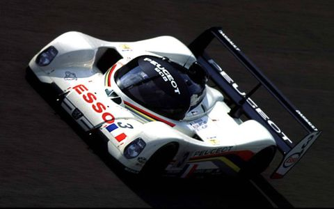 The Peugeot 905 was voted one of the best of the 1990s.