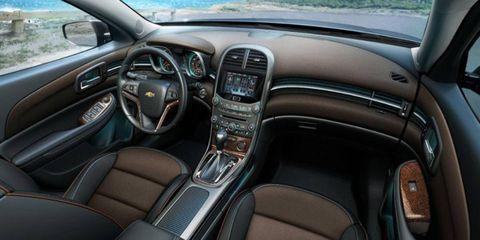 The 2013 Chevrolet Malibu 2LTZ with the cocoa fashion trim.