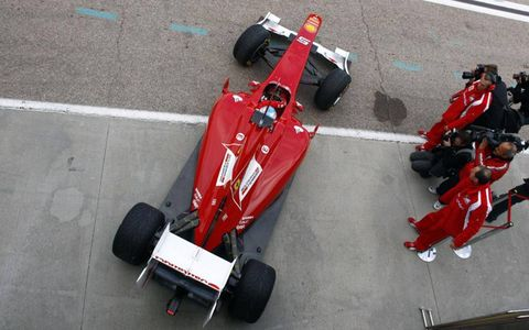 Formula One testing at Valenica