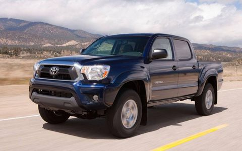 One of the added features of the 2012 Toyota Tacoma Access is the traction control button, allowing the driver to activate the limited-slip differential.