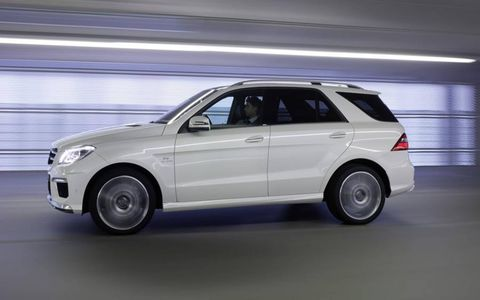 The 2012 Mercedes-Benz ML63 AMG offers ample cargo capacity according to editors.