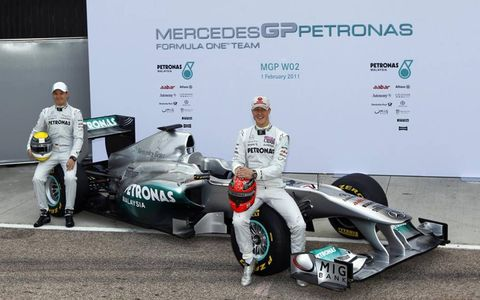 Schumacher, Rosberg and the new MGP W02