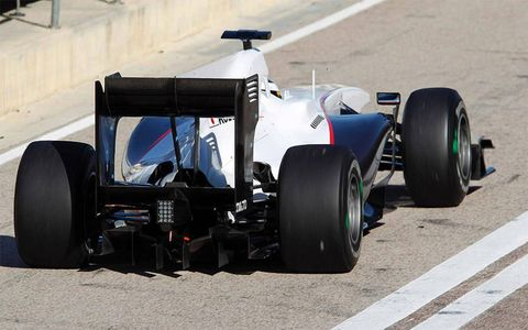 F1 testing kicked off at Valencia.