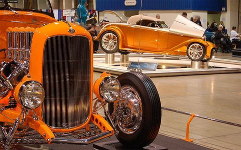 Orange is a popular color for custom roadsters.
