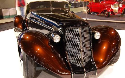 The 61st Grand National Roadster Show in Los Angeles again drew scores of hot-rod fans.