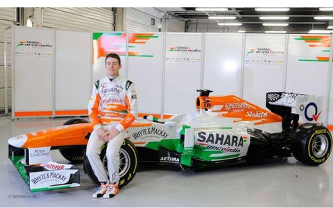 The new VJM06 that will be used by Force India for the 2013 Formula One season.