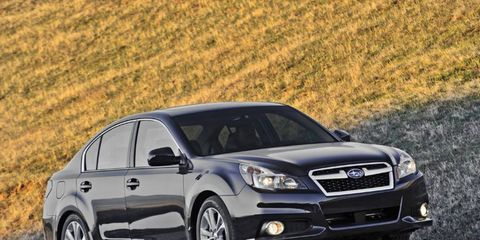 Some notable features of the 2013 Subaru Legacy 2.5i Limited are Harman/Kardon premium audio system with Bluetooth and a driver-assist system.