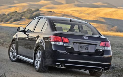 The 2013 Subaru Legacy 2.5i Limited features a continuously variable transmission.