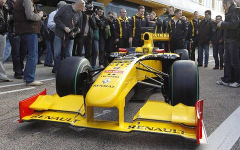 The launch of the Renault R30 in Valencia (Spain)