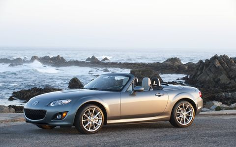 The 2014 Mazda MX-5 Miata Grand Touring PRHT  comes in at a base price of $30,245 with our tester topping off at $32,285.