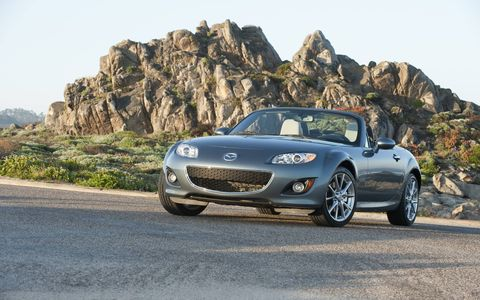The 2014 Mazda MX-5 Miata Grand Touring PRHT is a good honest car.