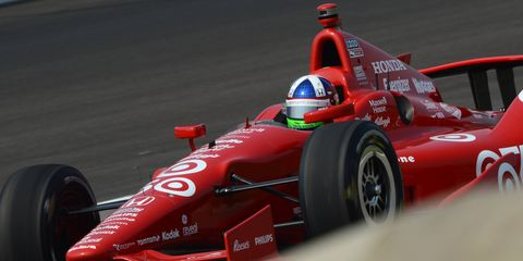 Dario Franchitti won the 2012 Indy 500 in a red-liveried car.
