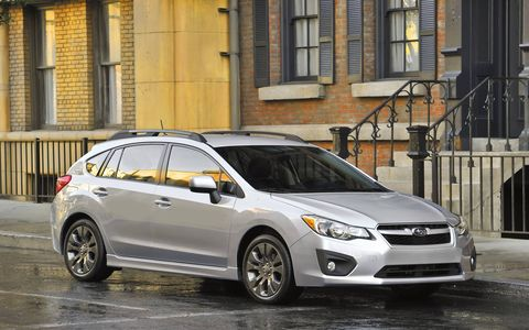 The 2014 Subaru Impreza Sport Limited receives an EPA-estimated 30 mpg combined fuel economy.