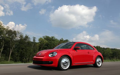 The 2015 Volkswagen Beetle 1.8T receives and EPA-estimated 28 mpg combined fuel economy.