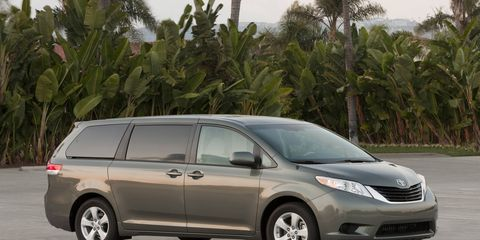 Toyota will recall 744,000 Sienna minivans built from 2011 to 2016 for a possible faulty door.