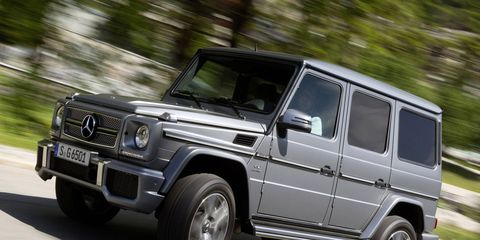 The G65 AMG is, thankfully, limited to 143 mph.