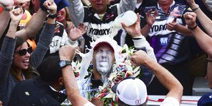 Tony Kanaan won the 2013 Indy 500 with a lucky charm from a fan.