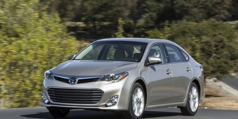 The base Toyota Avalon receives a moderate sticker price hike, as does the hybrid model.