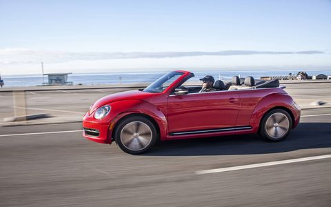 Our editors found that the clutch pedal in the 2014 Volkswagen Beetle Convertible TDI was a tad bit too light.