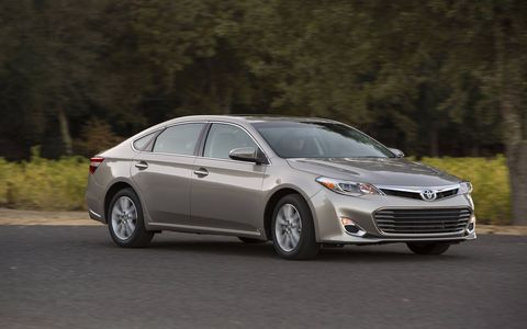 In EV Drive mode, the Avalon Hybrid can drive solely on the electric motor for a short distance at speeds under about 20 mph.
