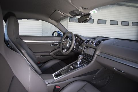The seats in the 2014 Porsche Cayman S are terrific.
