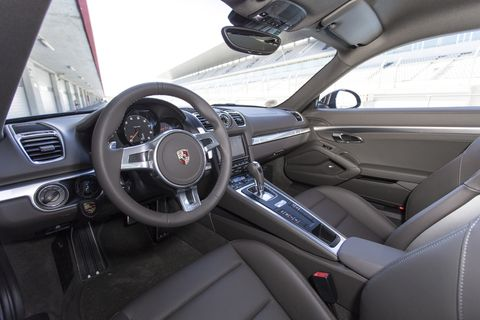 Interior build quality of the 2014 Porsche Cayman S is terrific.