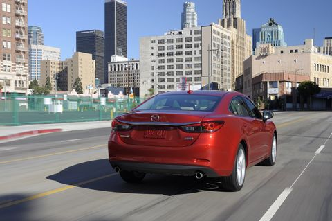 The 2015 Mazda 6 i Touring receives an EPA-estimated 29 mpg combined fuel economy.