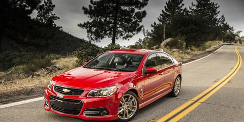 The 2015 Chevrolet SS will receive an optional manual transmission unlike the above 2014 model.