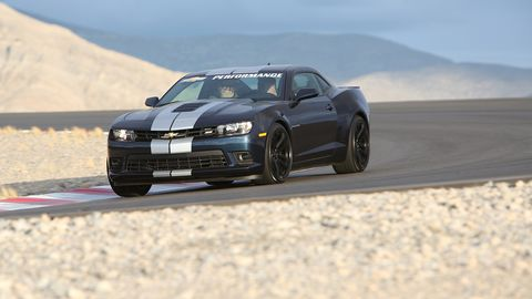 This is an Ultimate Street Camaro SS with the 1LE suspension, doing what it could do: driving around a track.