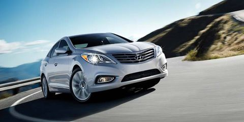 The 2014 Hyundai Azera Limited comes in at a base price of $35,645 with our tester topping off at $37,905.