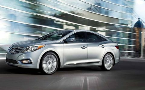 The 2014 Hyundai Azera Limited is equipped with a 3.3-liter V6 mated with a six-speed automatic.