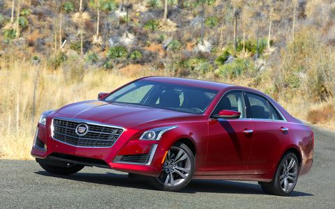 The CTS offers Automatic Parking Assist, which enables the car to park itself in parallel and – new for 2015 – perpendicular spaces.