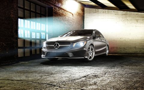 The CLA is the entry Mercedes- four-door coupe.