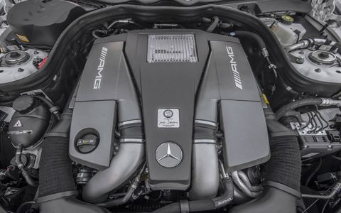 The CLS63 AMG S-Model 4Matic houses a new 5.5L V8 twin-turbo engine which delivers an impressive 577 hp and 590 lb-ft of torque.